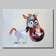 Hand-Painted Abstract Lovely Animal Modern Burro Oil Painting , Canvas One Panel Ready to Hang 80x120cm
