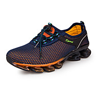 Men's Athletic Shoes Running Comfort Tulle Spring Summer Fall Winter Athletic Casual Lace-up Flat Heel Dark Blue Royal Blue Flat