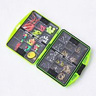 11*10cm Fishing Accessories Box Rock Fishing Tackle Box Swivel Jig Hook Sinker Floating Beads Fishing Tools Set 1 PC
