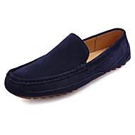 Kényelmes Könnyű talpak-Lapos-Férfi-Vitorlás cipők-Szabadidős Irodai Alkalmi-Disznóbőr-Bézs Sötétkék Szürke Khakizöld