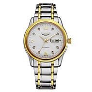 GUANQIN® Men Automatic Self-winding Waterproof Sapphire Crystal Calendar Luminous Luxury Rhinestone Steel Wrist Watch Cool Watch With Watch Box