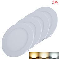 3W Paneellampen 15pcs SMD 2835 220-260lm lm Warm wit / Koel wit / Natuurlijk wit Decoratief DC 12 V 4 stuks