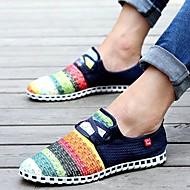 סניקרס אופנתיים-גברים של נעליים-קז'ואל-קנבס-כחול / ירוק / כחול נייבי