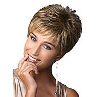 las mujeres a corto y rizado pelo sintético peluca rubia