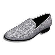 Men's Shoes Amir Limited Edition Pure Handmade Wedding / Party & Evening Leather Loafers Silver