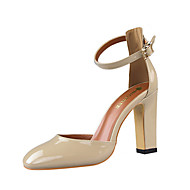 Women's Shoes Leatherette Chunky Heel Heels Heels Casual Black / Yellow / Pink / Red / Silver / Almond