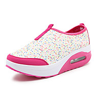 Women's Shoes Fabric Platform Wedges / Creepers / Comfort Fashion Sneakers Outdoor / Athletic / Casual Black / Pink