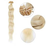 """היתוך קרטין neitsi 20 """"/ 1G של u מסמר תוספות שיער אנושי גל טבעי טיפ 100% 60 #"""