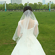 Wedding Veil Two-tier Fingertip Veils Pencil Edge Tulle White