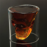 Heat Resistant Double Wall Transparent Creative Scary Skull Head Novelty Drinkware Whiskey Wine Vodka Shot Glass Cup