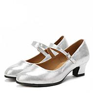 Μη Εξατομικευμένο-Λάτιν-Παπούτσια Χορού- μεΚουβανικό Τακούνι- απόΣουέντ / Λαμπυρίζον Γκλίτερ / Συνθετικό- γιαΓυναικείο