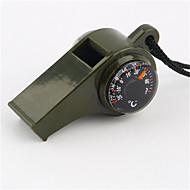 Survival Whistle / Compassos Direcional / Assobio Trilha / Campismo / Viagem / Exterior / Ciclismo Plástico Verde Escuro