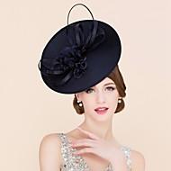 Ladies' Eye-catching Flax Headpiece -Wedding /Summer Cambric With Silk Flower