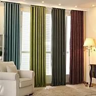 Dois Painéis Moderno / Designer Riscas Como na Imagem Sala de Estar Poliéster Blackout Cortinas cortinas