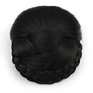 excêntricas encaracolados profissão preto laço do cabelo humano perucas chignons 2