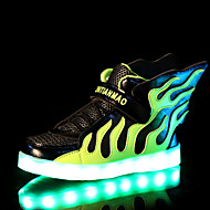LED Light Up Shoes, Boys' Shoes Outdoor / Casual Silicone / Tulle Fashion Sneakers / Boat Shoes Blue / Green / White / Fuchsia