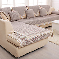 Marron Coupe Ajustée Housse de Sofa Type de tissu Literie