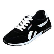 Femme-Extérieure / Sport-Noir / Bleu / Rouge-Talon Plat-Confort-Sneakers-Polyuréthane
