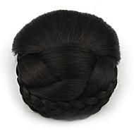 excêntricas encaracolados profissão preto cabelo humano chignons rendas perucas 2/33
