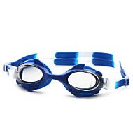 No Lunettes de natation Unisexe Taille ajustable / Sangle antidérapant Polyuréthane PC Noir / Bleu Noir / Bleu