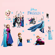 Frozen Family Wall Stickers DIY Removable Cartoon Princess Wall Decals Bedroom Living Room Wall Art