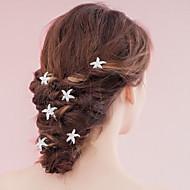 Naiset Helmi Päähine-Häät Erikoistilaisuus Hiuspinni Hair Stick 6 osainen