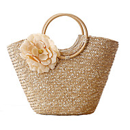Ms. Trend Handbags Outdoor Handbag Shoulder Bag Woven Straw Bag Leisure Travel Straw Beach Bag