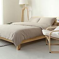 Light gray Washed Cotton Bedding Sets Queen King Size Bedlinens 4pcs Duvet Cover Set