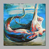 50x50cm (20x20inch) die nackte Meerjungfrau handgemalte Grafik Leinwand mit Keilrahmen