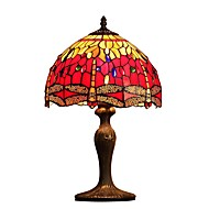 Red  Dragonfly,Tiffany Designed Table Lamps with 1 Light