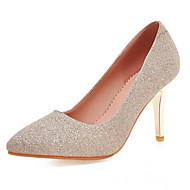Women's Shoes Leatherette Stiletto Heel Heels Heels Office &/ Dress / Casual Blue / Purple / Silver / Gold