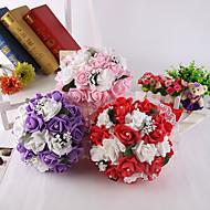 Svatební kytice Kulatý Růže Kytice Svatba Párty / večerní akce Satén Pěna Křišťál imitace drahokamu