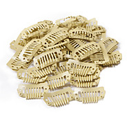 neitsi® 80pcs i-muotoinen snap leikkeet metalliliittimiä hiusten pidennykset DIY clip-(2.3cm, musta, ruskea, keltainen)