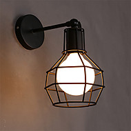 Retro Contracted Black Wrought Iron Birdcage Wall Lights Living Room /Restaurant,Cafe light Fixture