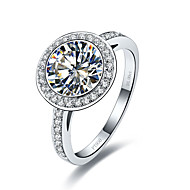 3CT Halo Style Round Paved SONA Diamond Ring Engagement Sterling Silver Wedding Ring for Women Bride Jewelry Pt950 Print
