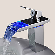 Sprinkle® Sink Faucets  ,  Contemporary  with  Chrome Single Handle One Hole  ,  Feature  for LED