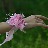 """Svatební kytice ručně vázané Růže Živůtek na zápěstí Svatba Párty / večerní akce Satén Tyl 10 cm (cca 3,94"""")"""
