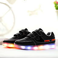 Boy's Athletic Shoes Spring Summer Fall Winter Comfort Light Up Shoes Leather Casual Flat Heel Magic Tape Black Red White