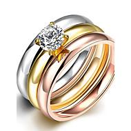 Široké prsteny Prsteny s kamenem Prsten Kubický zirkon Zirkon Módní Bohemia Style Punkový styl Nastavitelná Rozkošný Třásně Různé barvy