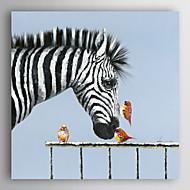 kézzel festett olajfestmény állati madarak csók a zebra feszített keret 7 fal arts®