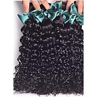 Cabelo Humano Ondulado Cabelo Brasileiro Kinky Curly 18 Meses 4 Peças tece cabelo