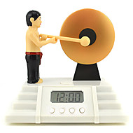 criativo bonito bater um despertador multi-funcional gongo