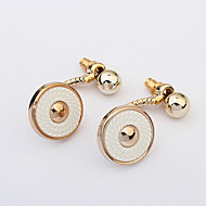 Button-type Alloy Round  Fashion Dinner Earrings