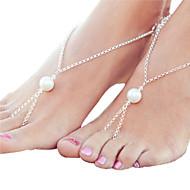 Mode häkeln Baumwolle Fußschmuck Fußkettchen Armband Fußkette Strand Frauen barfuß Sandalen