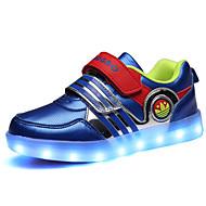 לבנים / לבנות-נעלי ספורט-PU-נוחות-שחור / כחול / אלמוג-שטח / קז'ואל / ספורט-עקב שטוח