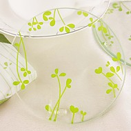 Olive Leaf Glass Coasters Wedding Favors (1pcs)