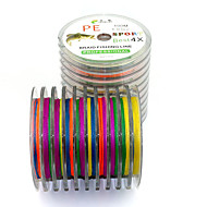 100 M 4 Encoding Colorful Dyneema Fishing Lines Anti-bite Line Braided Lines Sub-4-Ply PE Line Lure Lines