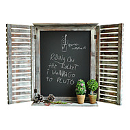 Vintage Wood Coffee Bar Store Wall Blackboard