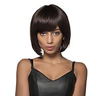 довольно боб прически руки связали топ Remy человеческих волос монолитным черные парики