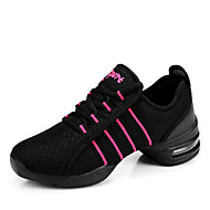 Non Customizable Women's Dance Shoes Synthetic Synthetic Dance Sneakers Sneakers Chunky Heel Practice / Performance Black / Red / White